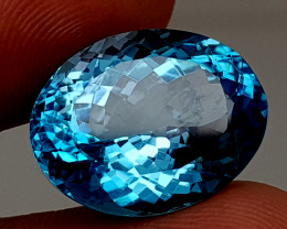 19.35Crt Blue Topaz Natural Gemstones JI112