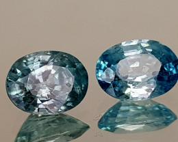 3.35Crt Blue Zircon Natural Gemstones JI112