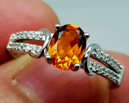 16Crt Madeira Citrine Ring size 7 925 Silver  Natural Gemstones JI112