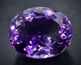 25.81 Crt Natural Amethyst  Faceted Gemstone.( AB 64)