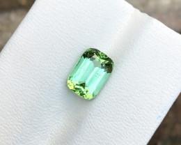 2.60 Ct Natural Greenish Blue Transparent Tourmaline Ring Size Gemstone
