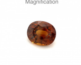 2.53ct Oval Orange Mali Garnet