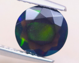 1.14ct Natural Ethiopian Welo Solid Smoked Faceted Opal Lot V8458