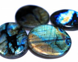 380.00 CTS  LABRADORITE DICS  PARCEL -IDEAL WIRE WRAPPING  [STS2039]