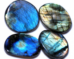 296.00 CTS  LABRADORITE DICS  PARCEL -IDEAL WIRE WRAPPING  [STS2040]
