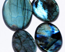 294.00 CTS  LABRADORITE DICS  PARCEL -IDEAL WIRE WRAPPING  [STS2041]