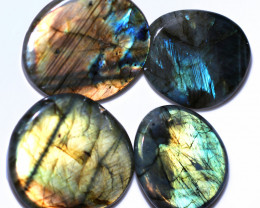 375.00 CTS  LABRADORITE DICS  PARCEL -IDEAL WIRE WRAPPING  [STS2042]
