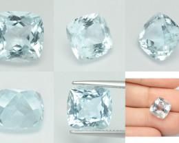 Aquamarine 5.46 Cts Un Heated Blue Natural Loose Gemstone