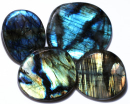 410.00 CTS  LABRADORITE DICS  PARCEL -IDEAL WIRE WRAPPING [STS2046]