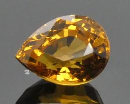 2.38ct Pear Orange Mali Garnet