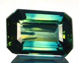 1.05 Cts Australian Unheated Natural Sapphire Bluish Green (Emerald Cut)