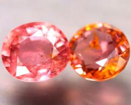 Tourmaline 1.91Ct 2Pcs Natural Orangey Pink Tourmaline E0508/B31