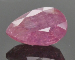 7.04ct Pear Red Ruby Unheated- $1 No Reserve Auction