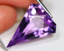Amethyst 11.62Ct VVS Master Cut Natural Bolivian Purple Amethyst A0201