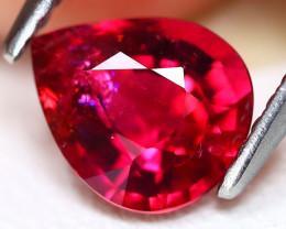 Rubellite 1.11Ct Pear Cut Natural Vivid Red Rubellite Tourmaline A0203