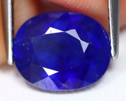 Blue Sapphire 3.77Ct Oval Cut Royal Blue Color Sapphire A0213