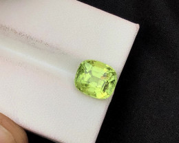 3.90 ct Green Peridot Ring Size Attractive color ST