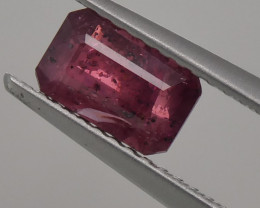 1.33ct Emerald Cut Red Ruby Unheated