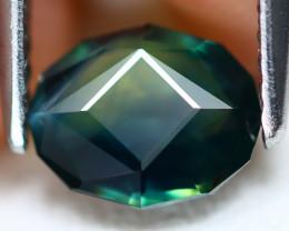 Sapphire 1.29Ct VVS Master Cut Natural Australian Mermaid Sapphire B0209