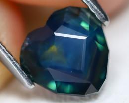Sapphire 1.64Ct VVS Master Cut Natural Peacock Sapphire B0215