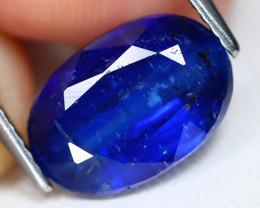 Kyanite 3.39Ct Oval Cut Natural Himalayan Royal Blue Kyanite B0217