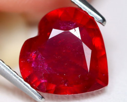 Red Ruby 2.78Ct Heart Cut Pigeon Blood Red Ruby C0205