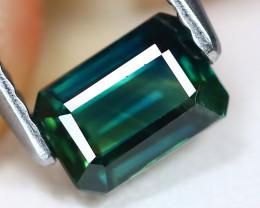 Sapphire 1.00Ct Octagon Cut Natural Australian Mermaid Sapphire C0215