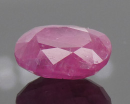 1.02ct Cushion Red Ruby Unheated