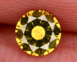 AAA Grade Ravishing Color 0.35 ct Natural Vivid Yellow Diamond