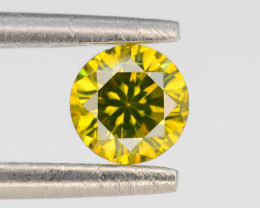 AAA Grade Ravishing Color 0.30 ct Natural Vivid Yellow Diamond