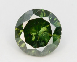AAA Grade Ravishing Color 0.45 ct Natural Vivid Green Diamond