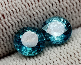 3.45CT BLUE ZIRCON BEST QUALITY GEMSTONE IIGC11