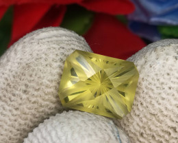 Modern Cut Citrine Gemstone Cut by Master Cutter