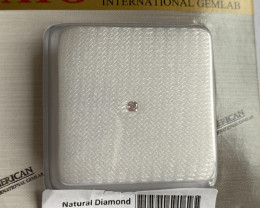 UNTREATED Fancy Pink Loose Diamond AIG Certified 0.08ct Blister Cushion Cut