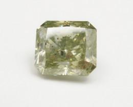 Huge 5.69ct Radiant Natural certified greenish Yellow Diamond  + Video