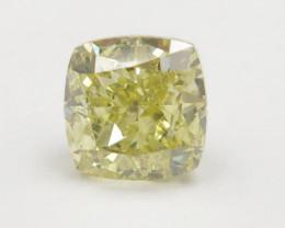 0.90ct Natural Fancy Yellow Diamond IGI certified  + Video