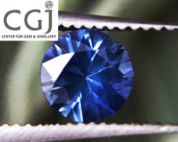 Certified - 0.46ct - Blue Sapphire