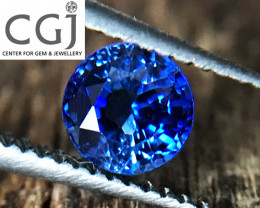 Certified - 0.41ct - Blue Sapphire