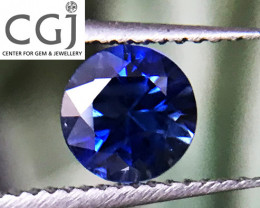 Certified - 0.39ct - Blue Sapphire