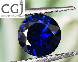 Certified - 0.43ct - Royal Blue Sapphire