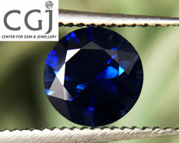 Certified - 0.65ct - Royal Blue Sapphire