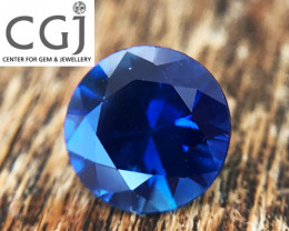 Certified Unheated - 0.62ct - Royal Blue Sapphire