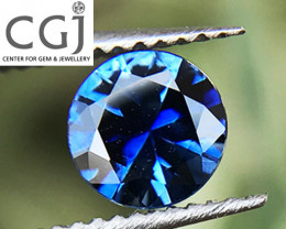 Certified Unheated - 0.37ct - Blue Sapphire