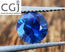 Certified Unheated - 0.49ct - Blue Sapphire