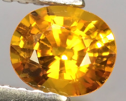 0.70Ct~Excellent Natural Intense Beautiful Orange Yellow Sapphire Excellent