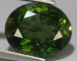 6.00 CTS GENUINE TOP GREEN COLOR APATITE OVAL GEM BRAZIL