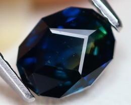 Sapphire 1.31Ct VS2 Master Cut Natural Australian Peacock Sapphire C0301