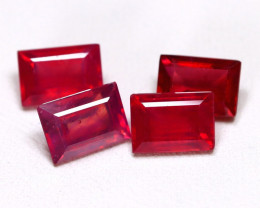 Red Ruby 5.61Ct Octagon Cut Pigeon Blood Red Ruby Lot C0303