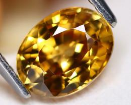 Yellow Zircon 1.84Ct VS2 Oval Cut Natural Yellow Color Zircon C0308