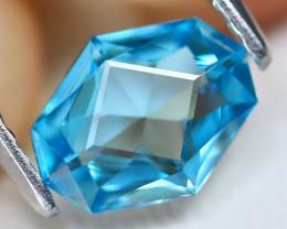 Blue Zircon 1.22Ct VVS Master Cut Natural Cambodian Blue Zircon C0405